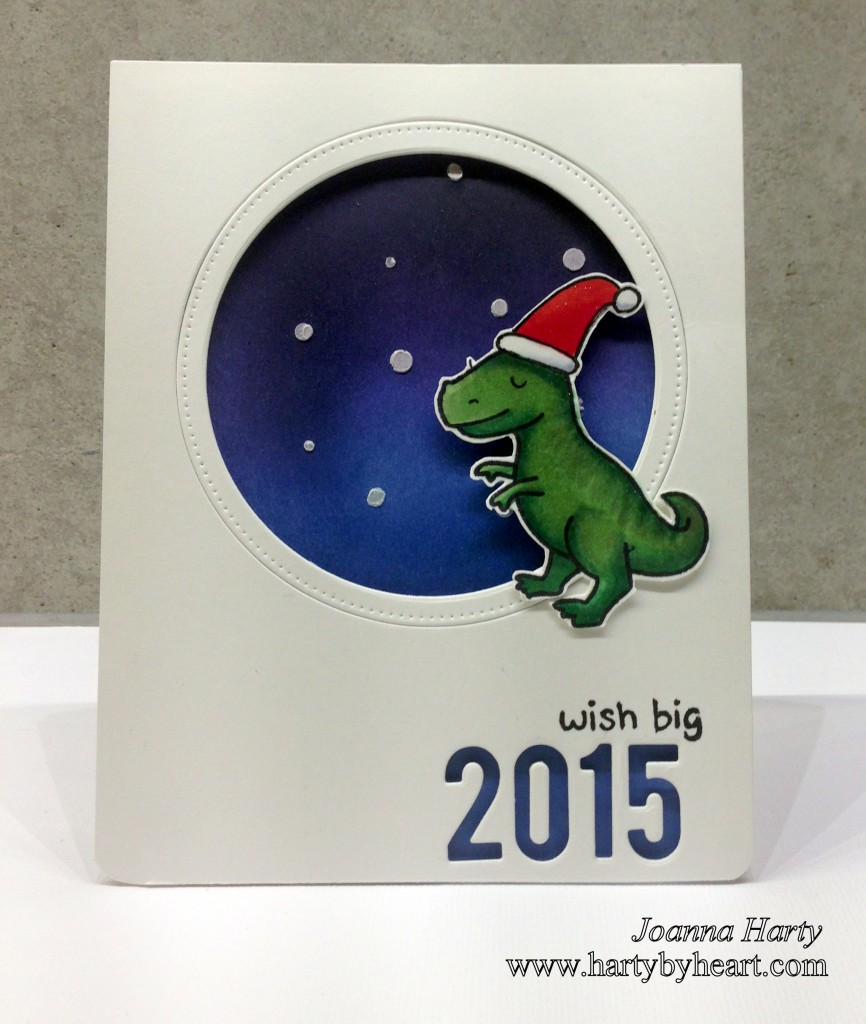 Christmas card with dino, www.hartybyheart.com