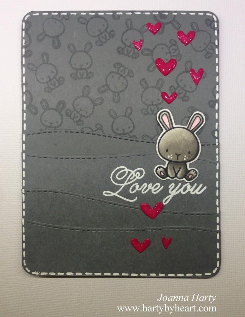 Valentine card with Mama Elephant die, www.hartybyheart.com