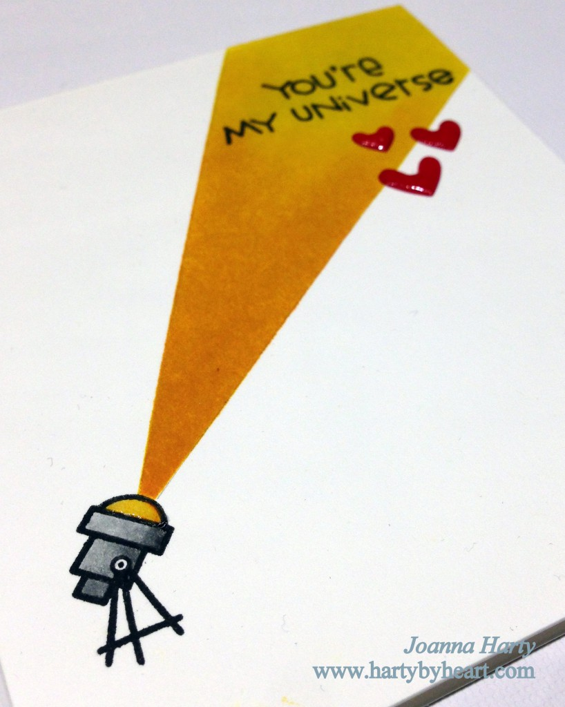 Valentine card using Paper Smooches stamps, Space  Cadet