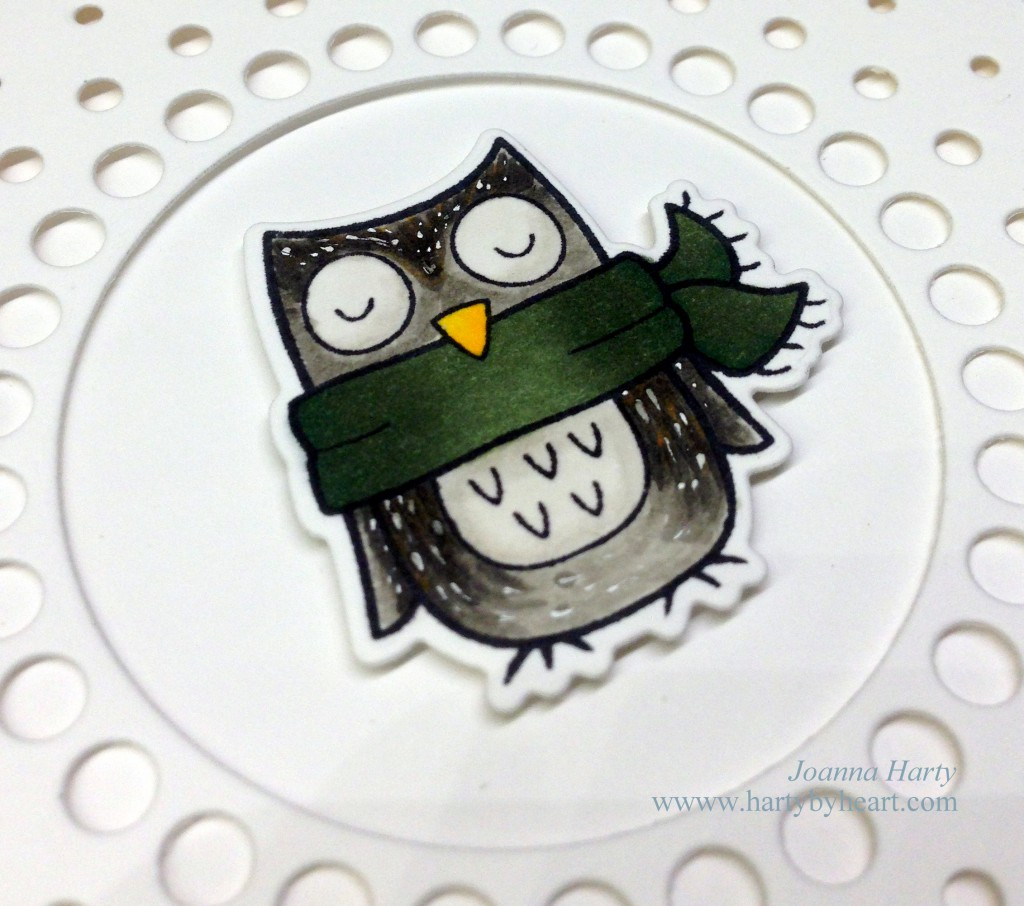 Winter owl from Lawn Fawn, Die from My Favorite Things, www.hartybyheart.com