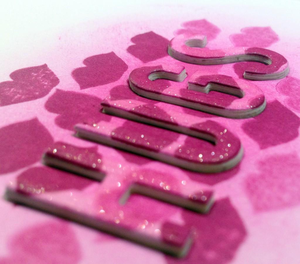 dimensional die cut letters, www.hartybyheart.com