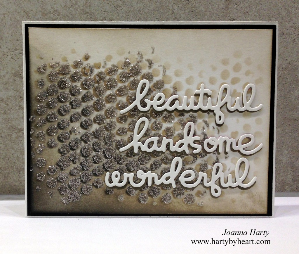Card by Joanna Harty with dies from Paper Smooches,  www.hartybyheart.com