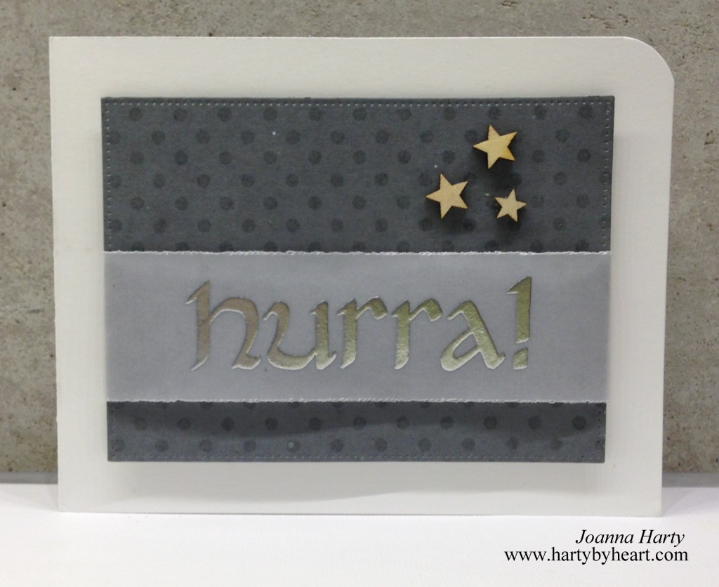 Birthday card with heatembossed sentiment
