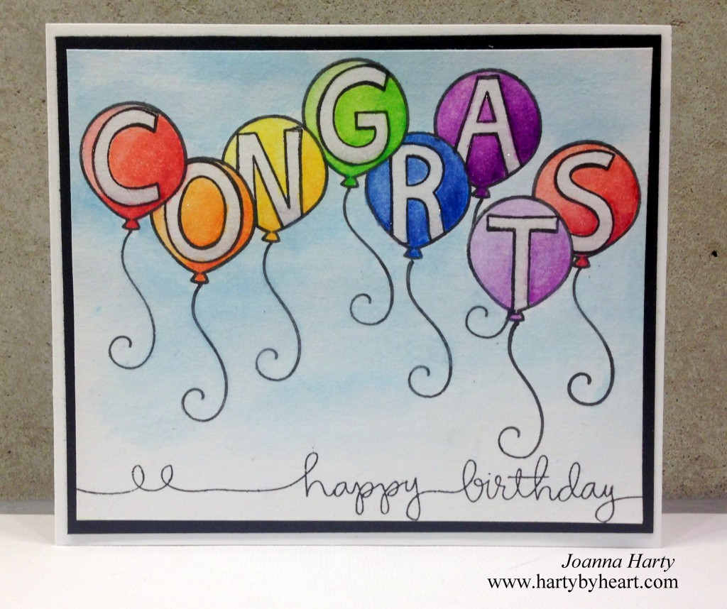Congrats card by Joanna Harty using Lawn Fawn and Simon Says Stamp.More information over at my blog, www.hartybyheart.com