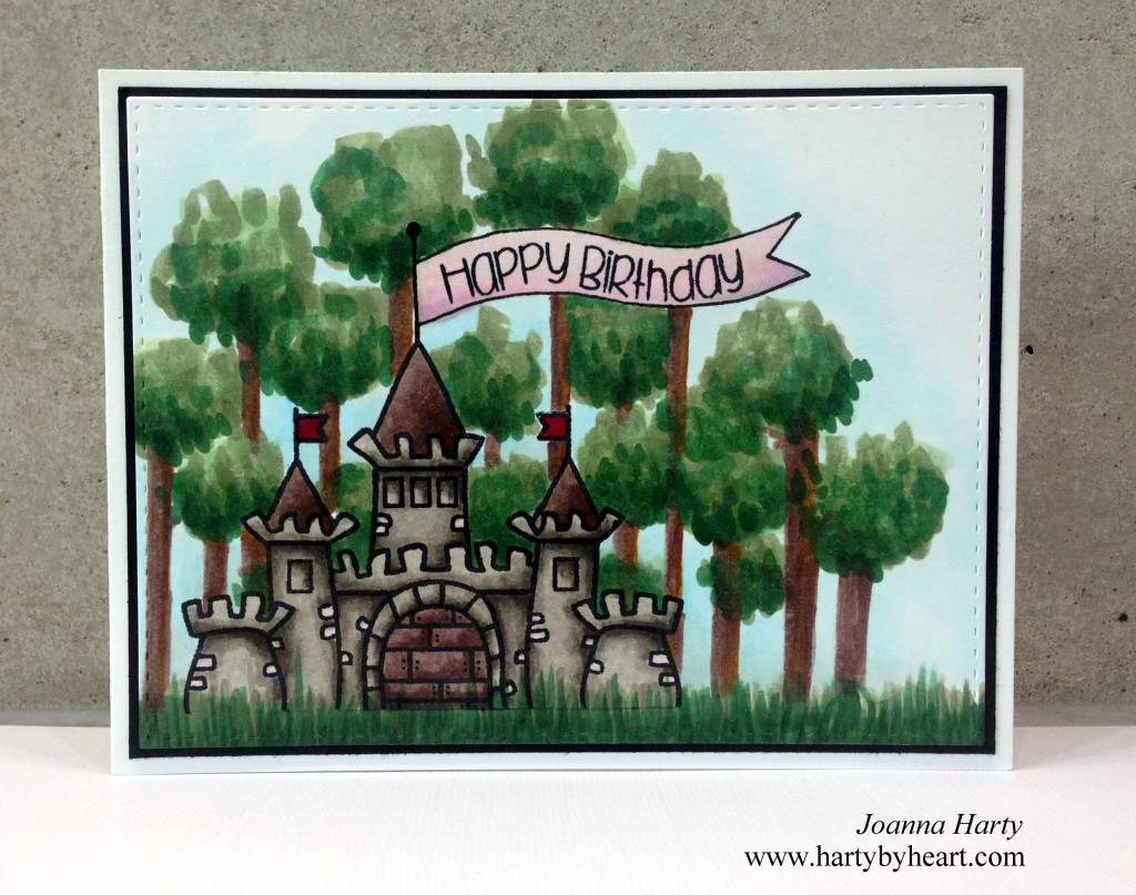 Happy Birthday card by Joanna Harty using Once upon a time and Rock Solid from TAWS