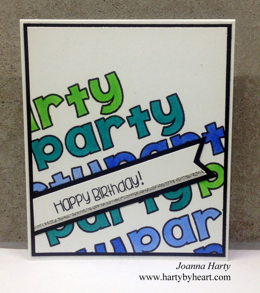 Happy Birthday card created by Joanna Harty using The Alley Way Stamps