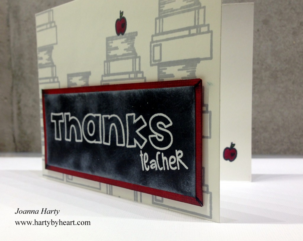 Thanks teacher, card created by Joanna Harty using TAWS
