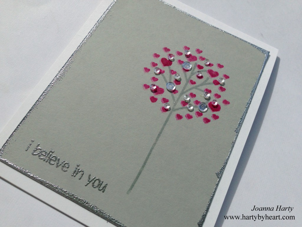 Card created by joanna Harty using Calm And Loving from CAS-ual Friday Stamps
