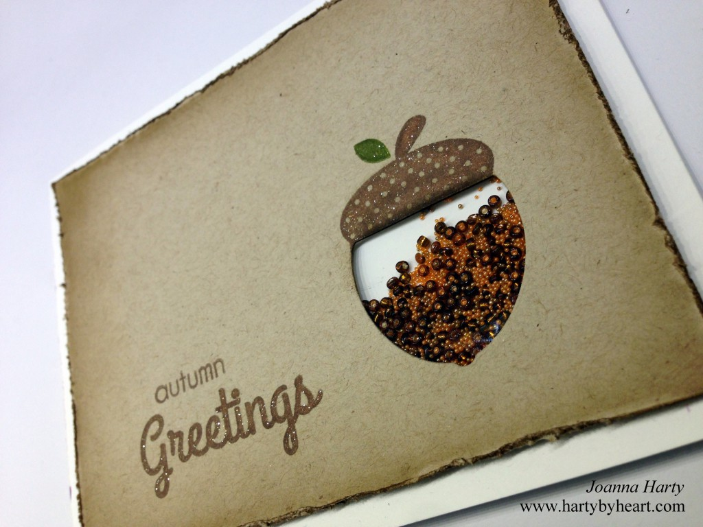 Card created by Joanna Harty using CAS-ual fridays Autumn Blessings and Acorn fri-dies