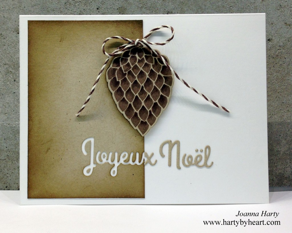 Card created by Joanna Harty using Pinecone stampset and dies from CAS-ual Fridays Stamps