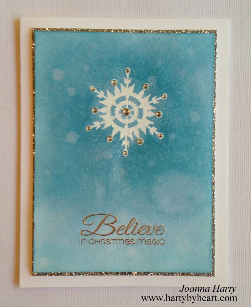 Christmas card created by Joanna Harty Using CAS-ual Friday Stamps
