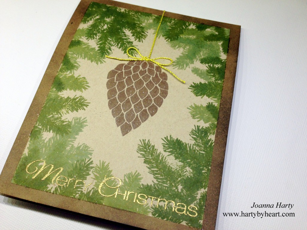 Christmas Card created by Joanna Harty using CAS-ual Fridays Stamps