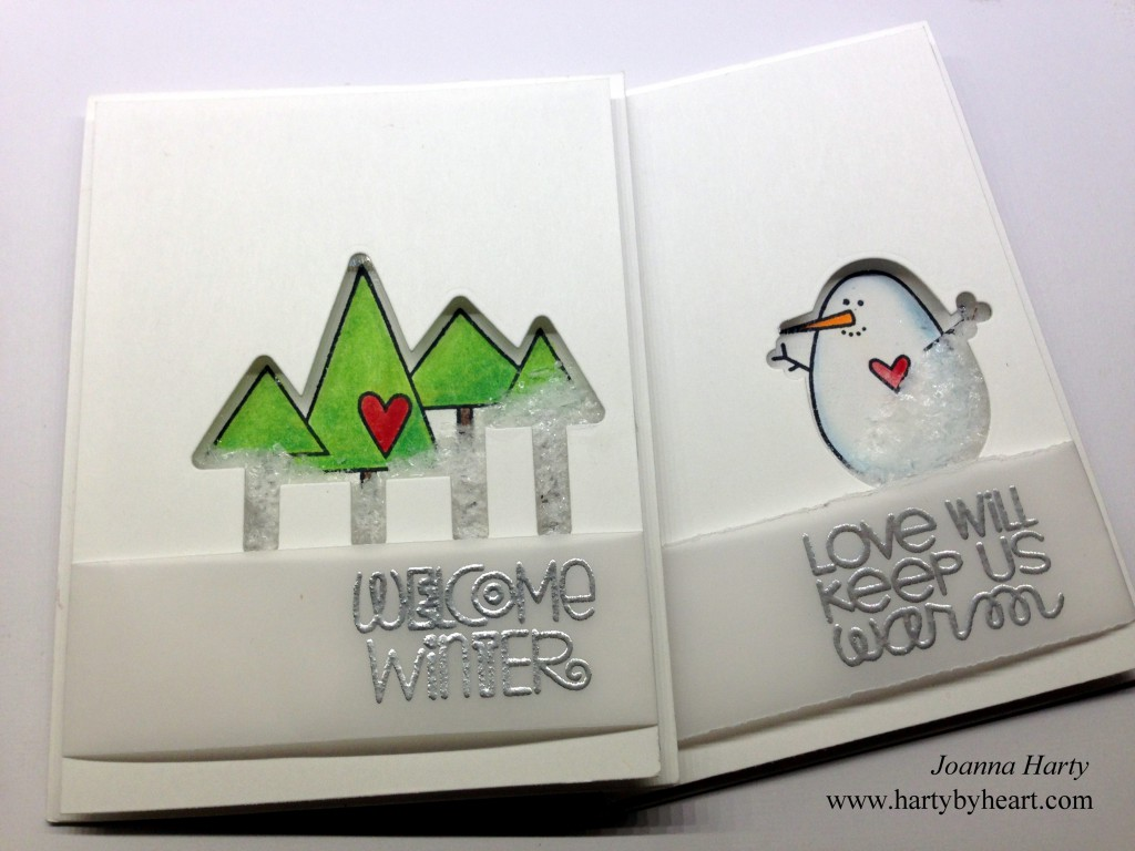 Shaker card created by Joanna Harty Using Paper Smooches