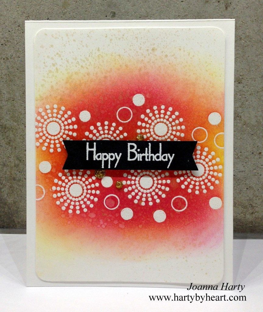 Happy Birthday card created by Joanna Harty using HLS