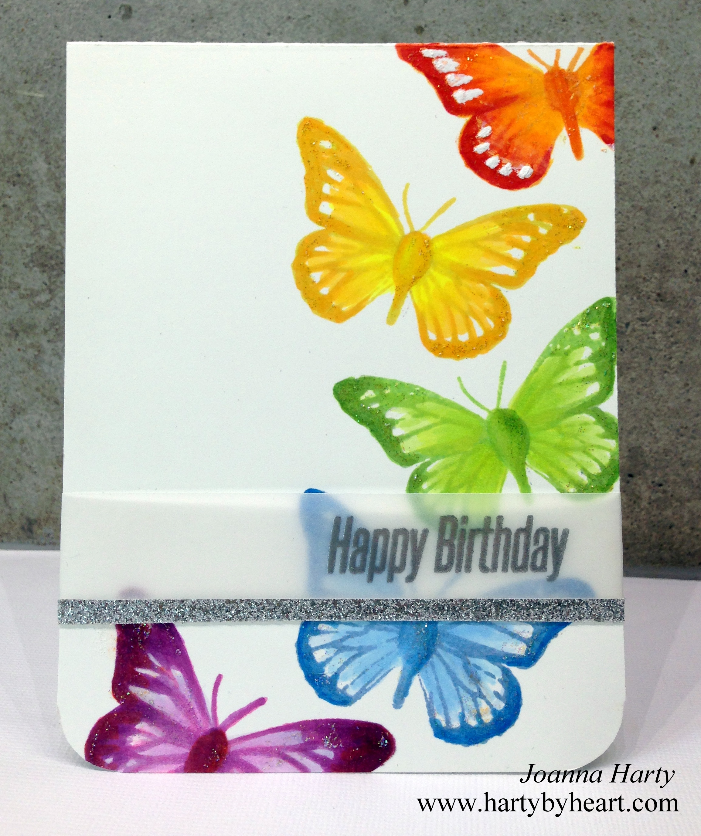 Colorful Happy Birthday card using Happy Little Stampers Video – Video Birthday Cards